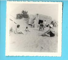 MINI PHOTO---LE CRAU AGDE--1961--la Tamarissière Et Les Blocaus---voir 2 Scans - Lugares