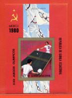 GUINEE EQUATORIALE BLOC NON DENTELE** TENNIS DE TABLE,PING-PONG JEUX OLYMPIQUES DE MOSCOU 1980 - Equatorial Guinea
