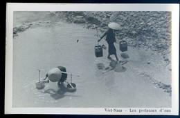 Cpa Carte Photo Du Viêt-Nam Les Porteuses D' Eau -- Vietnam  SE20-8 - Vietnam