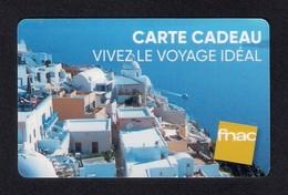 Carte Cadeau  FNAC Voyages.   Gift Card. - Gift Cards
