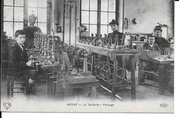 """ROYAT """" La Taillerie Le Perçage , Tres Belle Animation """"    N° 1369 - Royat"""