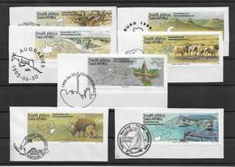 Südafrika 1995 Tourismus Kleines Lot 7 Werte Gestempelt Auf Papier - Sud Africa (1961-...)