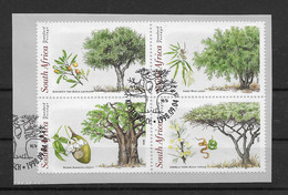Südafrika 1998 Bäume Mi.Nr. 1155/58 Kpl. Satz Gestempelt Auf Papier - Sud Africa (1961-...)