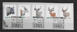 Südafrika 1998 Tiere Mi.Nr. 1124/28 Kpl. Satz Gestempelt Auf Papier - Sud Africa (1961-...)