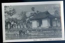 Cpa Carte Photo Du Viêt-Nam Un Coin Du Temple De Confucius  -- Vietnam  SE20-8 - Vietnam