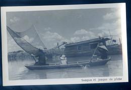 Cpa Carte Photo Du Viêt-Nam Sampan Et Jonque De Pêche  -- Vietnam  SE20-8 - Vietnam