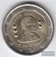 Belgium 2009 Stgl./unzirkuliert 2009 2 Euro Louis Braille - België