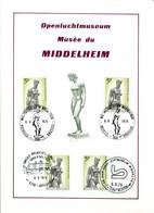 18175086 BE 19750906; Musée Middelheim Antwerpen, Sculpture Ch. Despiau; Fllet 4 ◙blit. Cob1777 - Feuillets
