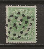 PAYS-BAS: Obl., N° 24, Oblitération Losange 1, Dts 12 1/2 X 13. TB - Used Stamps