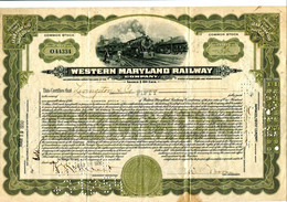WESTERN  MARYLAND RAILWAY Company - Spoorwegen En Trams