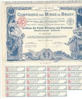 Action De Cent Francs Au Porteur,  Compagnie Des Mines De Bruay ( Pas De Calais ) - Andere
