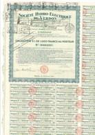 Obligation Société Hydro Electrique Du Verdon, 1931 - Andere