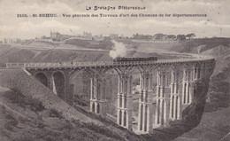 22. SAINT-BRIEUC. CPA. VUE GENERALE DES TRAVAUX D'ART DES CHEMINS DE FER DEPARTEMENTAUX. TRAIN. ANNEE 1905 + TEXTE. - Saint-Brieuc
