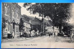 Tellin 1925: Entrée Du Village Par Rochefort, Très Animée - Tellin