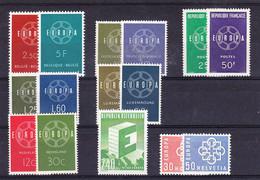 Europa Cept 1959 Year Set 8 Countries ** Mnh (50232) - Europa-CEPT