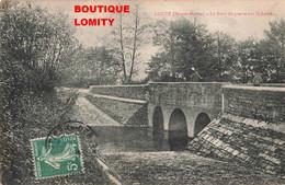 52 Louze Le Pont De Pierre Sur La Laine Cpa Carte Animée Petite Animation - France