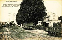 13941 - Saone Et Loire : PONT DE VAUX - FLEURVILLE - LA GARE -- Circulée En 1912 Sous Enveloppe - Other Municipalities