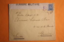 LETTRE DE GAND POUR GENEVE OUVERTE PAR LA CENSURE MILITAIRE. - Not Occupied Zone