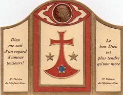 Mini Carte Religieuse    STE THERESE DE L' ENFANT - JESUS   Linge Ayant Enveloppé Les Ossements - Religión & Esoterismo
