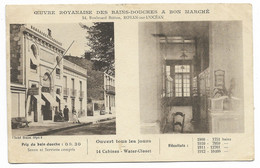 17-ROYAN-2 Vues Oeuvre Royannaise Des Bains-Douches à Bon Marché, 14 Bd Botton...1913  Animé - Royan