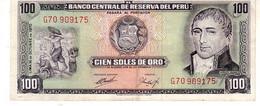 Peru P.102 100 Soles 1970 Xf - Perú