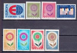 8 Postfrisse CEPT  EUROPA-zegels 1964 - Europa-CEPT