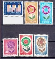 6 Postfrisse CEPT  EUROPA-zegels 1964 - Europa-CEPT