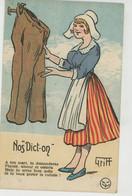 "HUMOUR - Jolie Carte Fantaisie ""Nos Dict-on ""  Signée GRIFF - Humor"