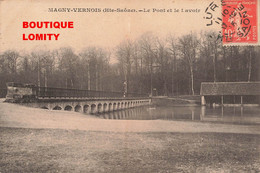 70 Magny Vernois Le Pont Et Le Lavoir Cpa Cachet 1915 , Voir état Ci Dessous - Francia