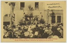 Le Theil-de-Bretagne . Remise De Son écharpe De Député (1928) à M. Robert Bellanger (automobiles) . Rare . - Sonstige Gemeinden