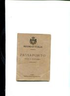 TESSERA-DOCUMENTO-REGNO D'ITALIA PASSAPORTO-CI SONO MARCHE DA BOLLO DELLA RUSSIA E VISTATE A PECHINO-PRIMI 900 - Werbung