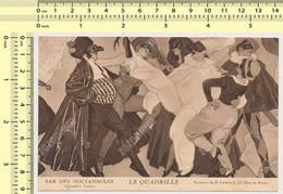 PARIS  BAR DES NOCTAMBULES LA QUADRILLE Peinture De G. Leroux Danses Carte Postale Old Postcard - Otros