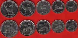 Eritrea Set Of 5 Coins: 1 - 50 Cents 1997 AU-UNC - Eritrea