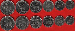 Eritrea Set Of 6 Coins: 1 - 100 Cents 1997 AU-UNC - Eritrea