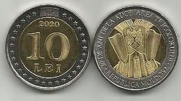 Moldova 10 Lei 2020. High Grade - Moldavië