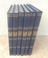 Lot De 6 Classeurs 23 X 31 Cm - 30 Pages - Fond Noir- Bon état. - Stockbooks