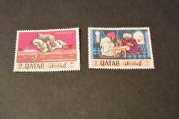 M2-  Stamps MNH Qatar 1968- 10 Yeras Of Postal Service - Qatar