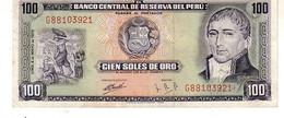 Peru P.102 100 Soles 1972 Unc - Perú