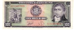 Peru P.102 100 Soles 1974 Unc - Perú