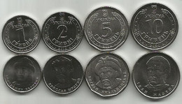 Ukraine  Set 4 Coins 1 2 5 10 Hryvni 2019 - 2020. High Grade - Oekraïne