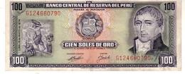 Peru P.102 100 Soles 1974 Xf+++ - Perú