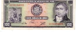 Peru P.108 100 Soles 1975 A-unc - Perú
