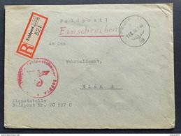 Deutsches Reich FELDPOST 1944, Reco-Feldpostbrief Nummer 166 Gelaufen WIEN - Briefe U. Dokumente
