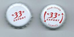 B 154 - 2 CAPSULES DE BIERE  - 33 EXPORT - Bière
