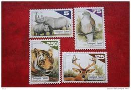 Bedreigde Dieren Animal Tiger Bird Dear  NVPH 1232-1235 1998 MNH POSTFRIS NEDERLANDSE ANTILLEN  NETHERLANDS ANTILLES - Curacao, Netherlands Antilles, Aruba