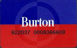 Carte Cadeau - Burton (carte De Fidélété)   - GIFT CARD /GESCHENKKARTE - Gift Cards