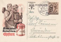 Deutsches Reich Postkarte 1937-41 Tag Der Briefmarke - Brieven En Documenten