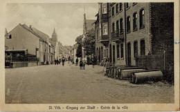 St-Vith Eigang Zur Stadt - Entrée De La Ville Circulée En 1923 - Saint-Vith - Sankt Vith