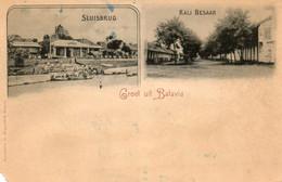 Indes Néerlandaises - CPA. Groet Uit BATAVIA -  Sluisbrug - Kali Besaar - - Postales