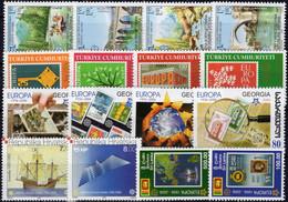 2006 CEPT Perf. 5 Sets ** 49€ Bosnien Kroatien Türkei Georgien Sri Lanka Topics Stamp On Stamps 50 Years Of EUROPA - 2006